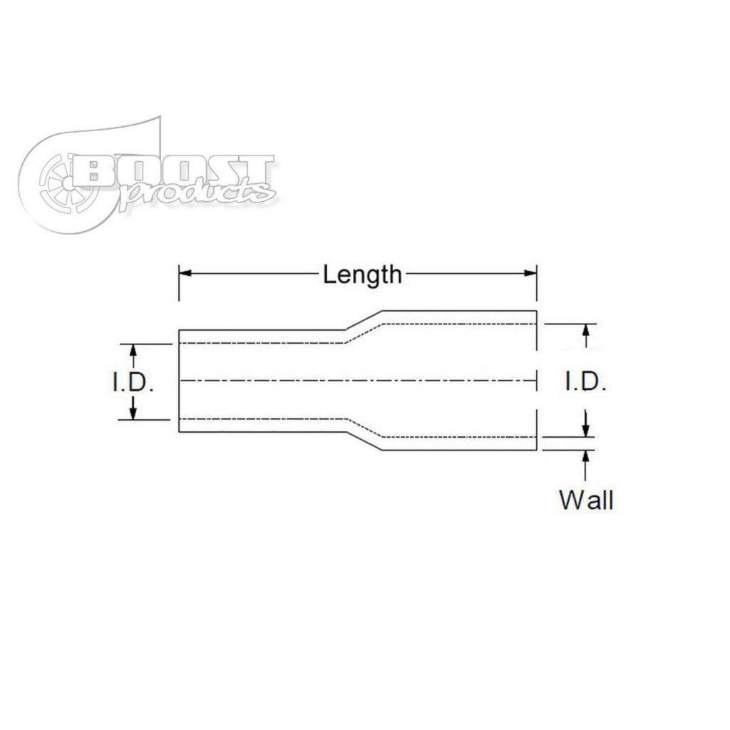 Silikon-Reduzierst/ück ID 76-45mm schwarz*** Silikonschlauch Reduzier-Verbinder Silikon